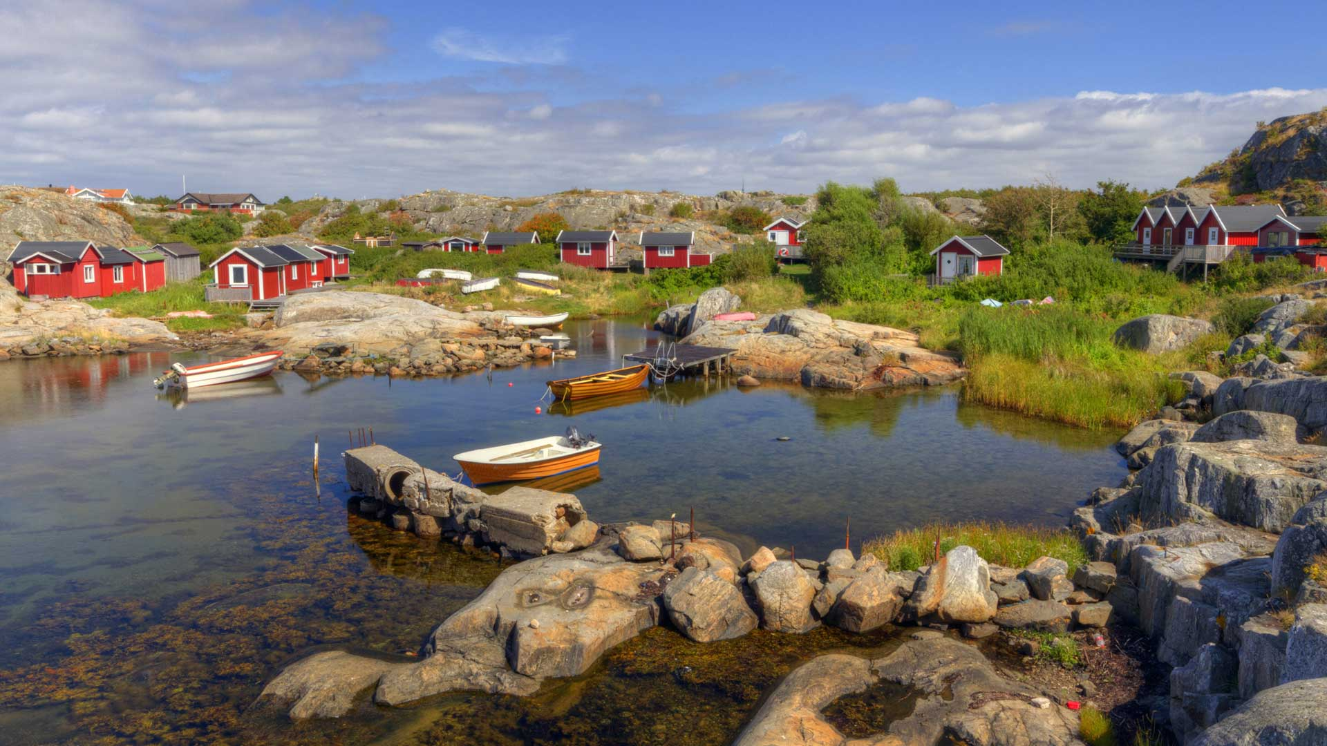 Fishing cove in Gothenburg, Sweden