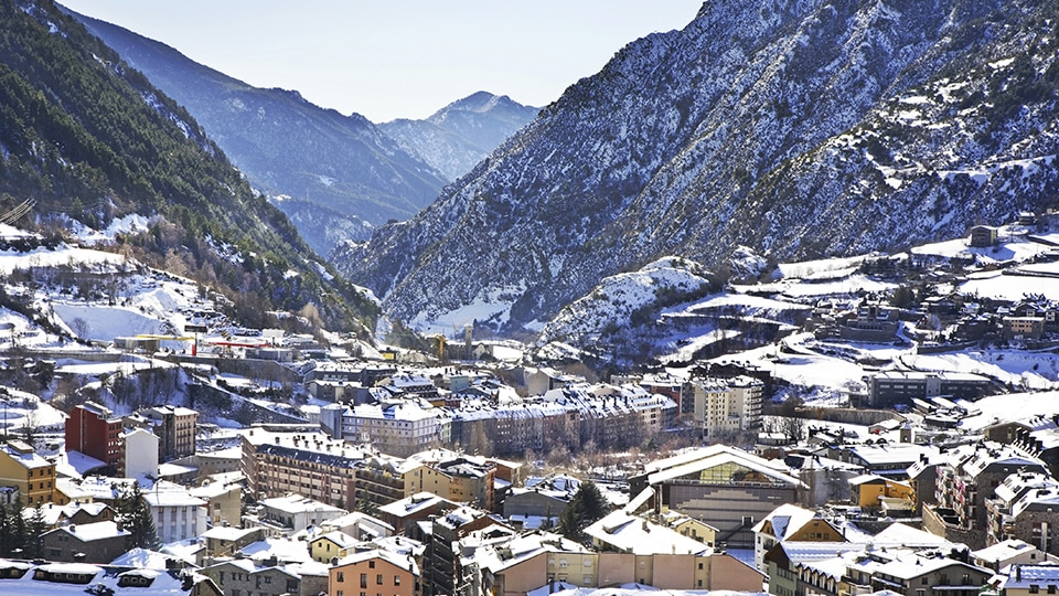 A snowy day in Andorra